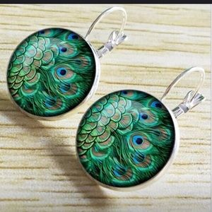 ModCloth Peacock Earrings